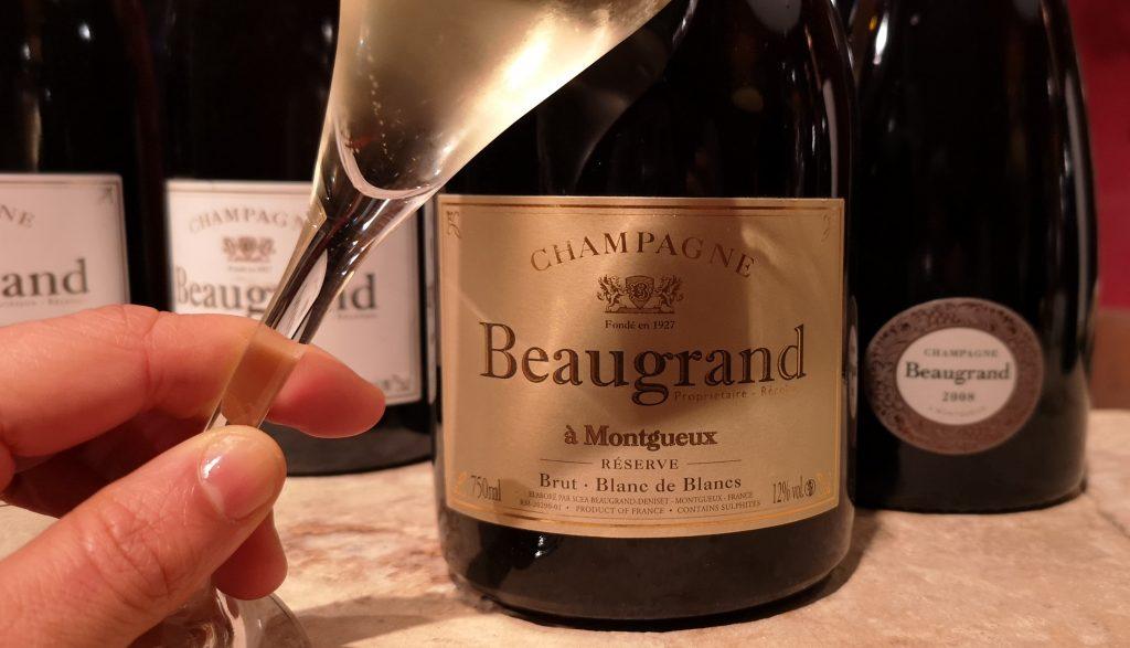 Le Blanc de Blancs Brut Réserve de la maison Beaugrand du vignoble de montgueux