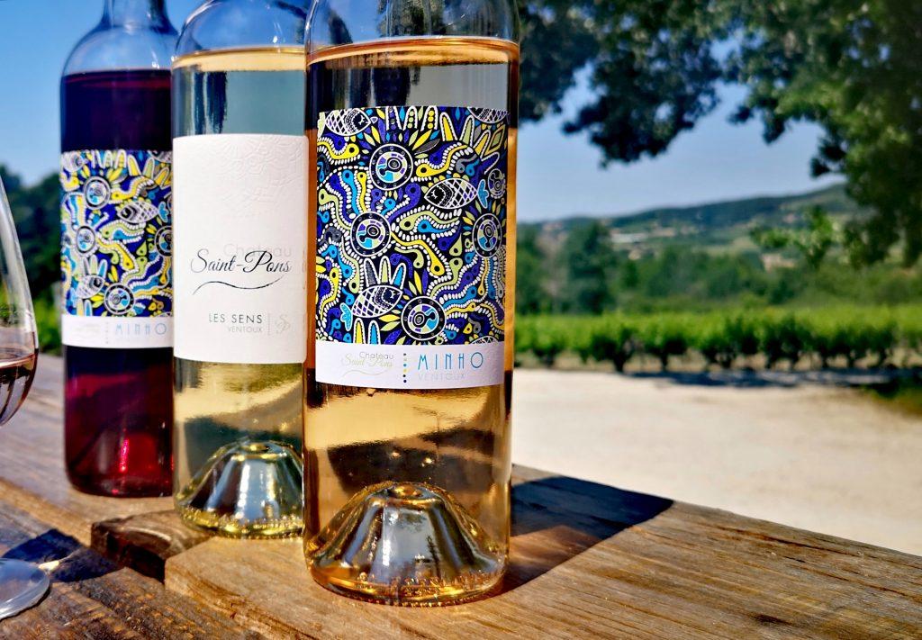 Les vins du Château saint Pons, en AOC Ventoux