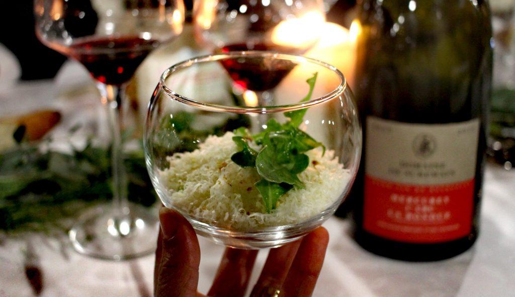 Le magnifique velouté de Diner en vignes accompagné du Mercurey 1er cru La Bondue du Domaine de Suremain, en format magnum bien sûr