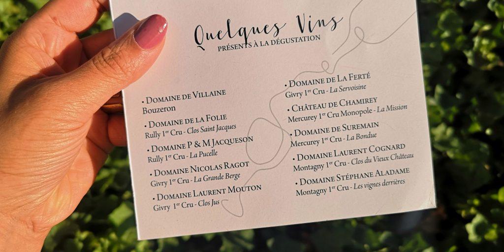 Petit extrait des vins de la soirée... 100% magnums et jéroboams, par des vignerons de la côte chalonnaise