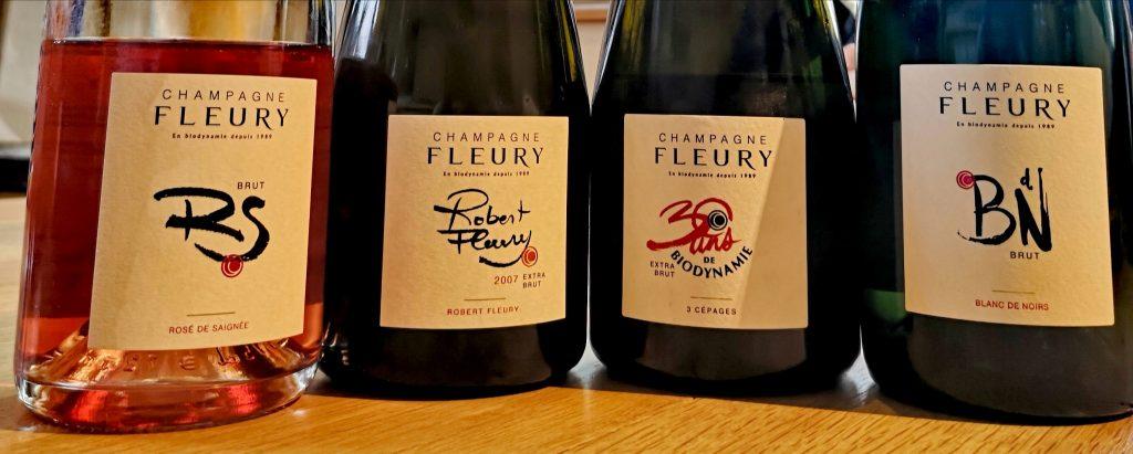 Dégustation des champagnes Fleury