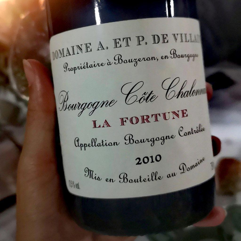 Un sublime vin rouge du Domaine A. et P. de Villaine à Bouzeron, en côte chalonnaise servi lors de Dîner en Vignes
