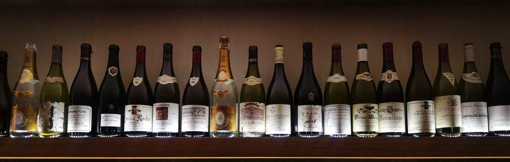 Line up des vins du bar à vin La Quille à Metz