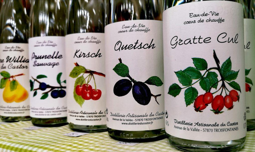 Les eaux de vies de la Distillerie Castor, en Moselle au salon vins et gastronomie de metz