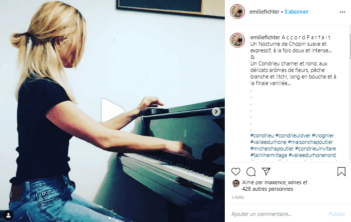 Chopin & Condrieu pour une soirée toute en rondeur. compte vin instagram