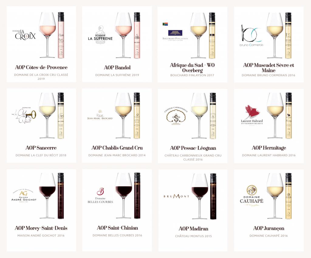 12 cuvées, pour couvrir un large spectre de vins