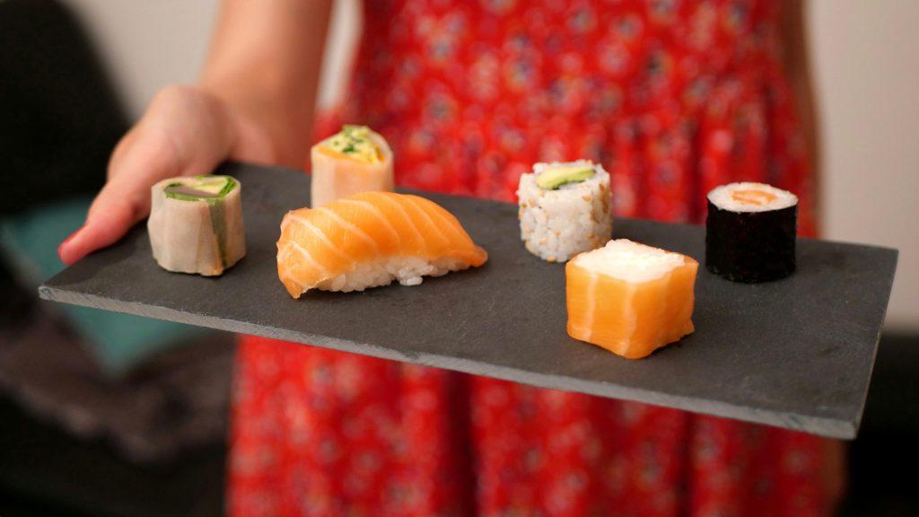 Aperçu de la diversité des sushis de la soirée