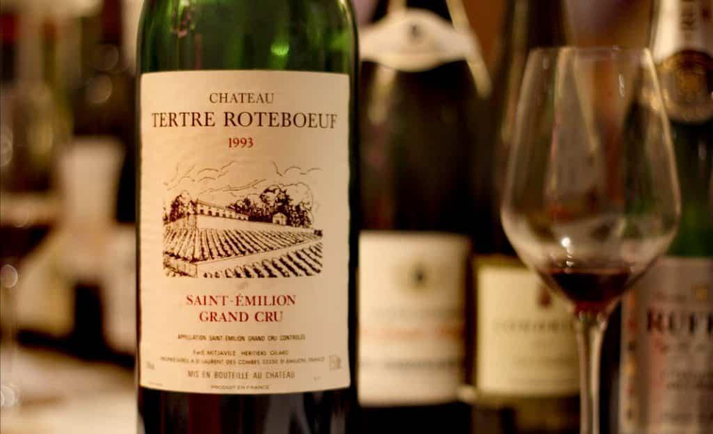 Dégustation vin dont saint emilion grand cru tertre roteboeuf