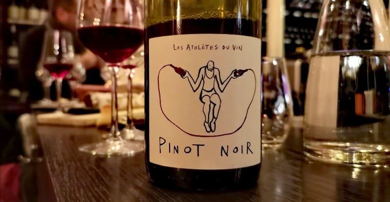 Cuvée les athlètes du vin en pinot noir dégusté chez mes accords mets vins chics