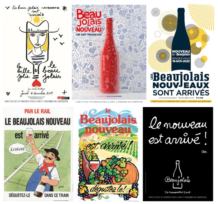 1976 - 2020, près de 45 ans de Beaujolais Nouveaux en quelques affiches